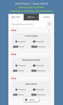 FolderStory - Write novel, Create World pc screenshot 1