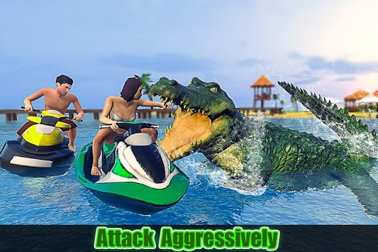 Crocodile Simulator 2019: Beach & City Attack pc screenshot 2