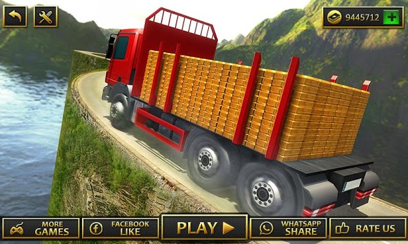 Uphill Gold Transporter Truck Drive pc screenshot 1