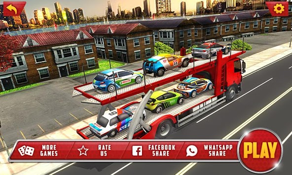 Vehicle Transporter Trailer Truck Game pc screenshot 1