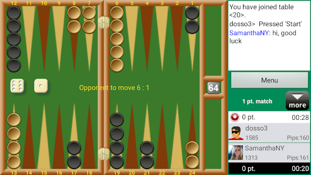 Backgammon Club pc screenshot 1