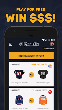 GameOn - Free Sports Picks 🤑🏆🏈🏀 pc screenshot 1
