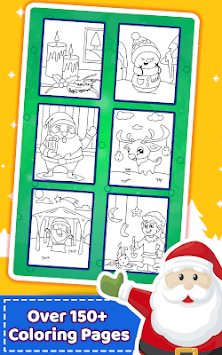 Christmas Coloring Book & Games for kids & family pc screenshot 2