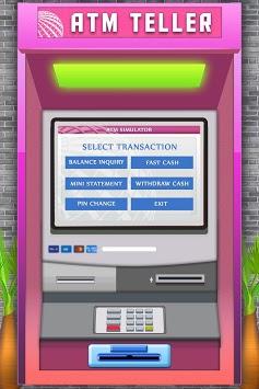 ATM Simulator Virtual Bank Cashier Free Kids Game pc screenshot 2