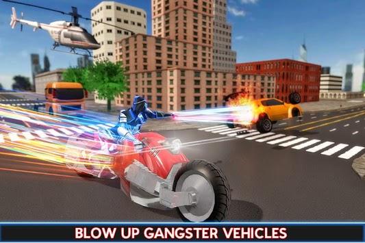 US Police Robot Speed Hero Crime Bike Rider pc screenshot 1