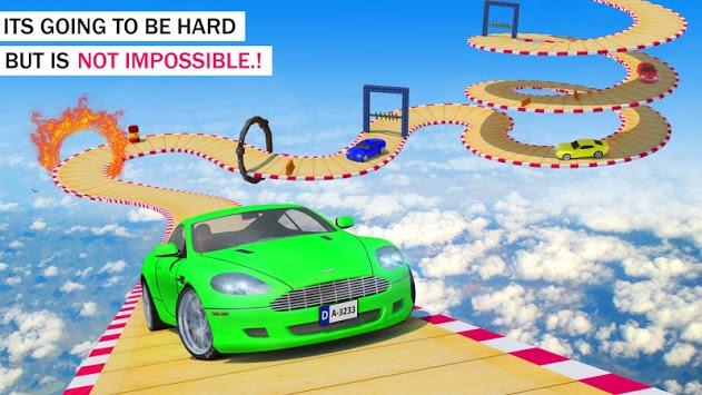Crazy Car & Impossible Track Racing Ramp Car Stunt pc screenshot 1