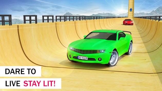 Crazy Car & Impossible Track Racing Ramp Car Stunt pc screenshot 2