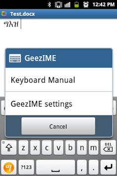 GeezIME: #1 Keyboard for Tigrinya, Tigre, Amharic pc screenshot 1