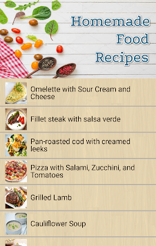 Homemade food recipes pc screenshot 2