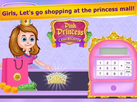 Pink Princess Cash Register - Cashier Girl Games pc screenshot 1