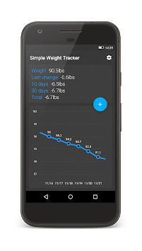 Simple Weight Tracker pc screenshot 1