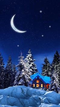 Snow Winter Night live wallpaper pc screenshot 1
