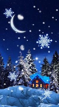 Snow Winter Night live wallpaper pc screenshot 2