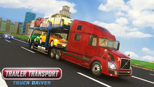 Trailer Transport Car Truck Driver pc screenshot 1