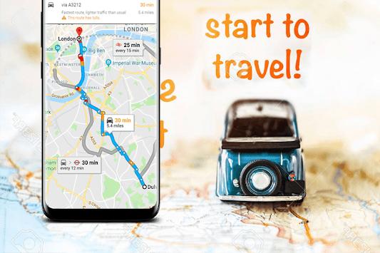 GPS Map Navigation, Voice GPS Driving Directions pc screenshot 2