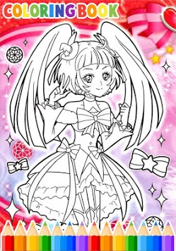How To Color Pretty Cure pc screenshot 1