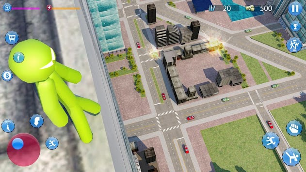 Green Hero Stickman Criminal Mafia pc screenshot 2
