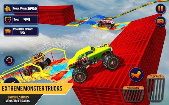 US Monster Truck Driving: Impossible Truck Stunts pc screenshot 1