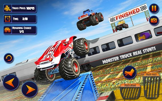 US Monster Truck Driving: Impossible Truck Stunts pc screenshot 2