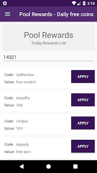 Pool Instant Rewards - Free coins pc screenshot 1