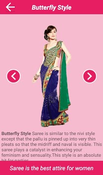 Saree Wearing Styles pc screenshot 1