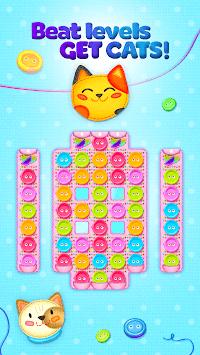 Button Cat: match 3 cute cat puzzle games pc screenshot 2