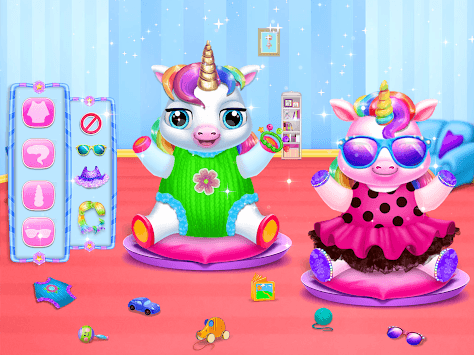 Twin Baby Unicorn Daycare - Care & Dress Up pc screenshot 1