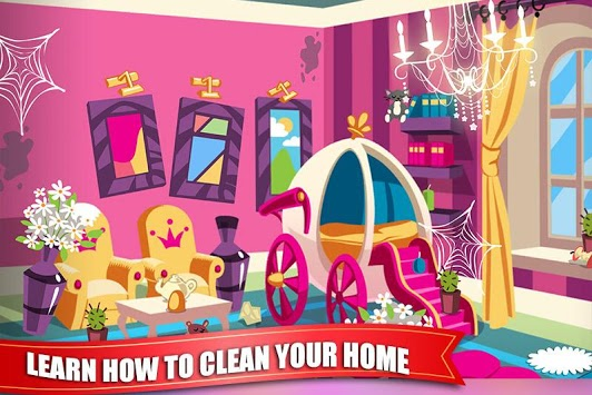 Princess Doll House Cleaning Game for Girls pc screenshot 2