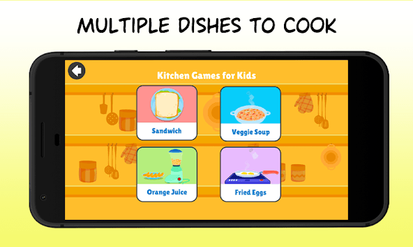 Kitchen Games - Fun Kids Cooking & Tasty Recipes pc screenshot 1