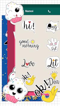 Cute Word Doodle Emoji Stickers pc screenshot 1