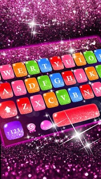 Colorful Glitter Keyboard Theme pc screenshot 1