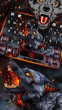 Flaming Wolf Keyboard Theme pc screenshot 2