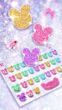Girly Glitter Minny Keyboard Theme pc screenshot 1
