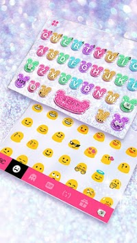 Girly Glitter Minny Keyboard Theme pc screenshot 2