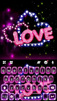 Neon Love Keyboard Theme pc screenshot 1
