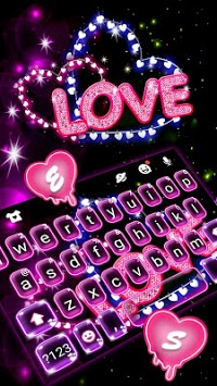 Neon Love Keyboard Theme pc screenshot 2