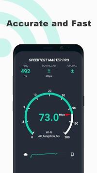 Free Internet speed test - SpeedTest Master pc screenshot 1