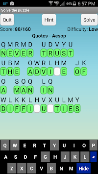 Cryptogram Puzzles Free Trial pc screenshot 1