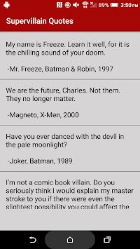 Supervillain Quotes pc screenshot 1