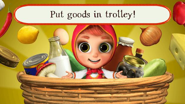 Masha Bear Grocery Store Games, Shopping for Kids pc screenshot 1