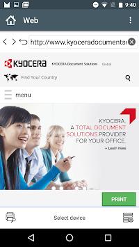 KYOCERA Mobile Print pc screenshot 2