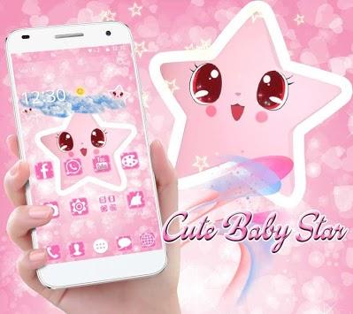 Cute Baby pink Star Kawaii Theme pc screenshot 1