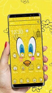 Glittering Yellow Bird Cartoon Theme🐥 pc screenshot 1