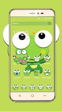 Green Cartoon Frog Big Eyes Theme pc screenshot 1