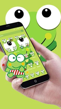 Green Cartoon Frog Big Eyes Theme pc screenshot 2