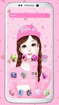 Adorable Cartoon Girl Theme👧 pc screenshot 1