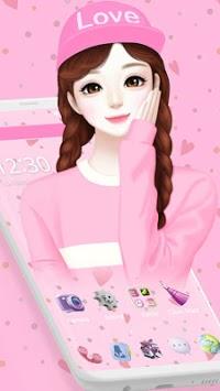 Adorable Cartoon Girl Theme👧 pc screenshot 2