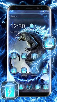 Neon Godzilla Thunder Theme pc screenshot 1