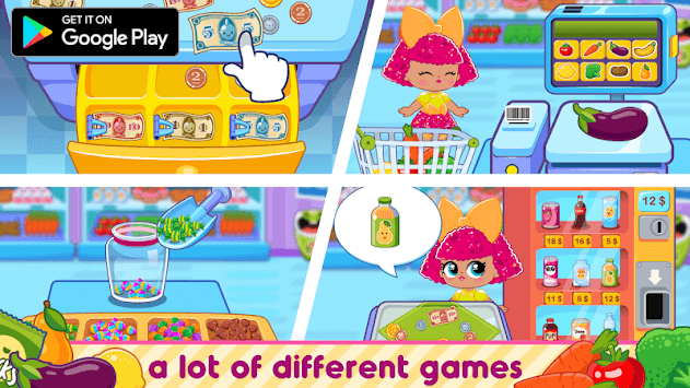 Dolls Surprise Eggs Grocery Store Supermarket pc screenshot 1