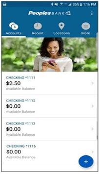 Peoples Mobile Banking pc screenshot 2